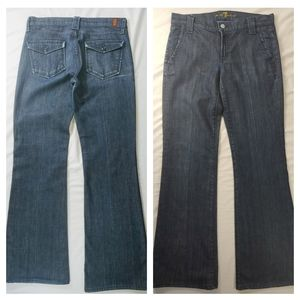 Flawed 7 For All Mankind Flap Pocket Wide Leg Jean